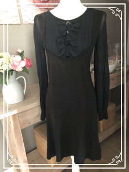 Zwarte jurk met doorschijnende mouwen van SuperTrash - Maat S