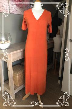Nieuwe oranje t shirt jurk lang model van het Merk - Mariposa - Maat XXL