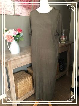 Lange t shirt jurk leger groen - Maat - XL