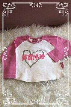 Wit met roze lange mouwen shirt van Barbie - Maat 86