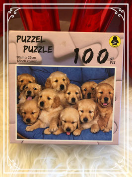 Puzzel labrador pups 100 stukjes