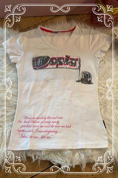 Wit T-shirt met opdruk van OPLA - Maat 122