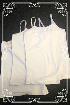 3 witte hemdjes voor meisjes maat 122/128