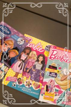2 magazines van Barbie en 1 van Frozen