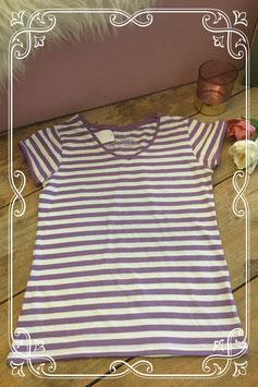 Paars-wit gestreept shirt van Ethno-maat 164
