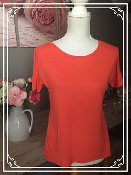 Oranje T-shirt met open schouders - Maat 36