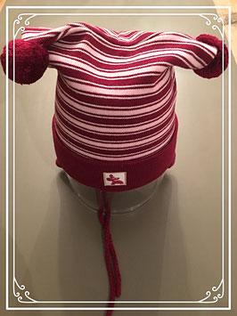 Nieuw: Bordeax-roze muts van de Baby Club (C&A) - voor 1-2 jarigen