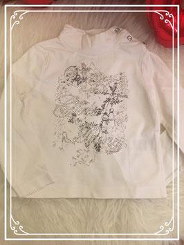 Wit shirt met lange mouwen - Maat 98