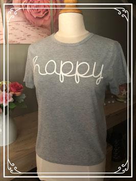 Nieuw: Grijs korte mouwen shirt met witte letters van Zsiibo - Maat L