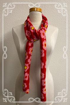Mooie en zachte sjaal in rood met wit voor kinderen