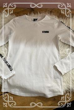 Wit lange mouwen t-shirt met tekst van Coolcat - Maar 146-152