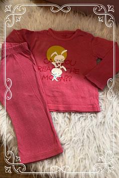 Leuk roze pyjamaatje van de Hema - maat 74/80