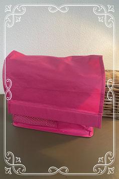 Nieuw! Roze tas met inzetvakken