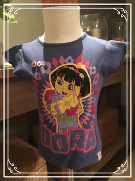 Blauw DORA T-shirt van Nickelodeon - Maat 98/104