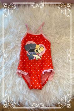rode bikini van Woezel & Pip - maat 74/80