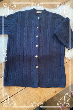 Donkerblauwe gebreide vest van Miss tricot - maat 52