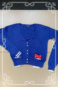 Speels blauw vest met leuke details van The Love Brand Maat S