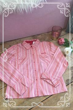 Roze/rode gestreepte blouse van Esprit - Maat 140-146