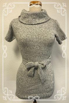 Lichtgrijze warme trui met riem van C&A maat S