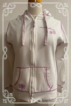 Leuk wit vest met roze details van Multiblu maat M