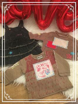 3 delige kleding set met bruine tinten van IKKS - Maat 62