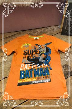 Oranje T-shirt met voorop BATMAN van Nucleo - Maat 158