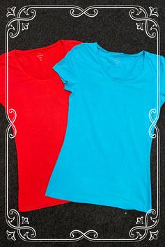 Nieuw! Blauw en rood shirt van C&A in maat XS
