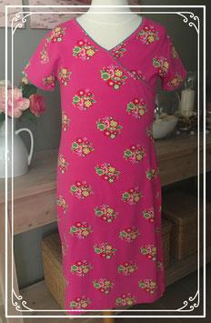 Roze jurkje met bloemenprint van HEMA - 158-164