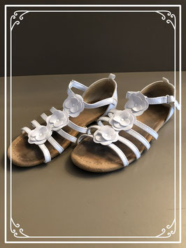 Witte bloementjes ballerina's - Maat 33