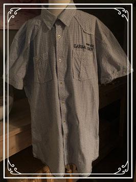 Geruit overhemd lichtblauw/grijs van WE - Maat XXL