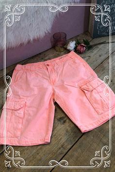 Mooie fluor oranje korte broek Madness by Silver Creek maat M