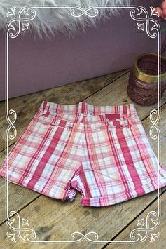 Roze geruite korte broek van OKAIDI - Maat 152