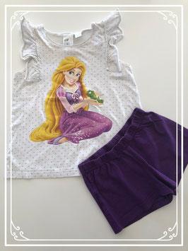 Korte pyjama van Disney's Rapunzel - Maat 122-128
