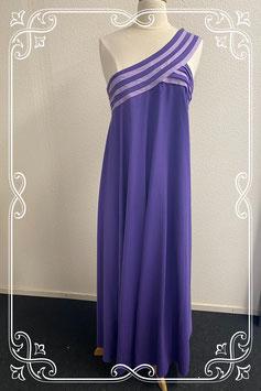 Mooie lange donkerpaarse (gala) jurk van Cocktail Hoffmann maat 42