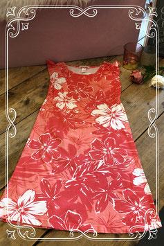 Oranje/zalmroze bloemenjurk van de H&M - Maat 146/152