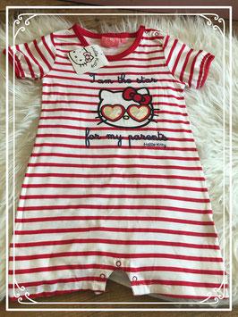Gestreept pakje van Hello Kitty - maat 86