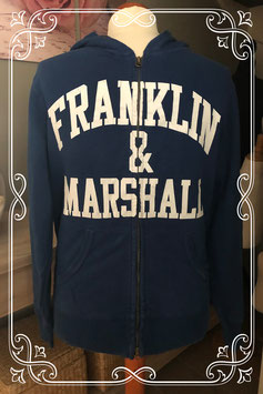 Donkerblauwe hoodie van het merk Franklin Marshall - maat m