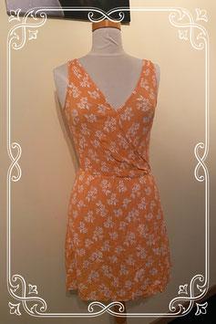 Oranje zomers jurkje van Clockhouse maat 36