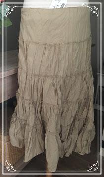 Geplooide beige rok - maat XL