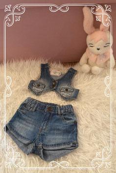 Tweedelige jeans set van L.O.G.G. - maat 62