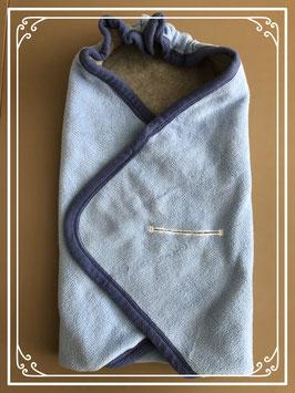 Blauw/grijze wikkeldoek van Bambino