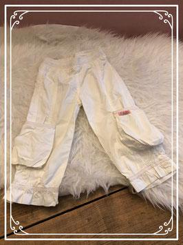 Crème witte broek van Kiekeboe - Maat 86