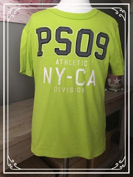 Stoer neon kleur tshirt met hippe tekst merk p.s. - maat 128