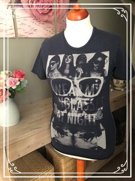 Donkerblauw t - shirt met print van het merk - Non Grada - Maat - S