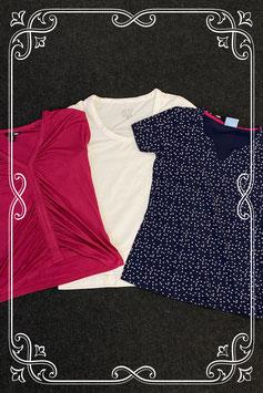 3-delig setje met shirts van H&M en John Cabot en HN Outdoor in maat M