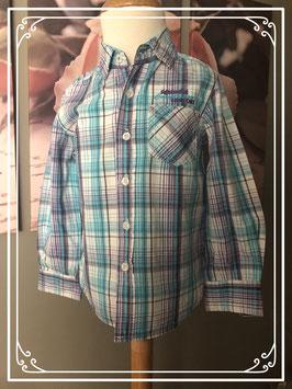 Vrolijk gekleurd overhemd van de HEMA - Maat 98-104