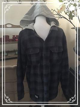 Dik geruit hemd met capuchon van Divided - maat M