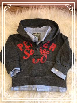 Donker grijze hoodie van Just Small - maat 62