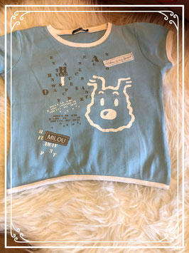 Lichtblauw T-shirt - TINTIN - maat 98