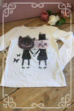 Zachtroze lange mouwen shirt met print van H&M - Maat 122-128